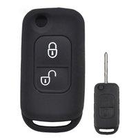 складной ключ кейс оптовых-Силикагель Флип Складные дистанционного ключа Обложка для ключа крышки случая Benz SLK E113 A C E S W168 W202 W203 Авто для сигнализации
