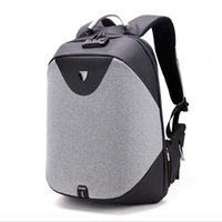 Wholesale hard laptops for sale - Group buy Laptop backpack men Waterproof Backpack Casual Travel Business USB Back pack Male Bag Anti theft Gift LJJS274