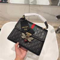 schwarzer metall eimer großhandel-Hot Brand Design Bee Taschen Dame Elegante Schulter Umhängetasche Luxus Reisetasche Hochwertige Handtasche