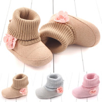 Wholesale year baby boy shoe winter for sale - Group buy Winter Baby Shoes Flower Cotton Baby Boots Soft Soled Toddler First Walkers For Girls And Boys years