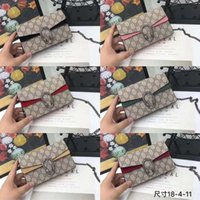 ingrosso portafogli snakeskin-2019 moda donna tracolla catena messenger bag di alta qualità borsa del raccoglitore del progettista cosmetico borsa formato 14 * 21 * 6 con scatola
