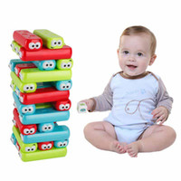 Wholesale brain baby for sale - Group buy Bricks Cartoon Plastic Tower Jenga Game Stacker Building Blocks Baby Stacking Toy Brain Teaser Interactive Game Educational Toys