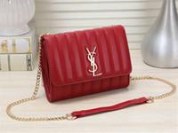Wholesale womens luxury fashion purses for sale - Group buy Fashion Red Shoulder Bags Females Wallets Backpacks Luxury Black Messenger Bag Womens Chains Packs Purse Shoulder Bags x16x5cm