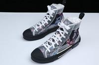 mens canvas high top spor ayakkabıları toptan satış-19SS Çiçekler Teknik Tuval B23 Yüksek Üst Sneakers Eğik Erkek Tasarımcı Ayakkabı Bayan Moda B22 B23 B24 B01 B02 Sneakers Ayakkabı Çizmeler