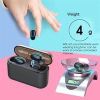 Wholesale wireless ear bud headphones resale online - HBQ Q32 TWS Bluetooth Earphone In Ear Earbuds with Charging Box Wireless Stereo Ear buds Headphone Power Bank for iPhone Samsung Xiaomi