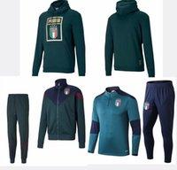 chándales italia al por mayor-2019 ITALIA BELOTTI traje de entrenamiento de fútbol de la chaqueta de fútbol 19 20 Verratti BONUCCI ZANINLO Jorginho Survetement conjunto de ropa deportiva chándal