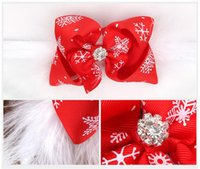 grosgrain band hair bow stirnbänder großhandel-Mädchen Weihnachten Stirnbänder Bogen Feder Boutique Kinder Haarschmuck Kinder Elastic Grosgrain Ribbon Hairbands Foto Requisiten Party Geschenk