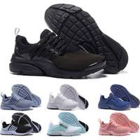 zapato libre negro al por mayor-presto shoes de la llegada zapatillas de deporte para hombre triples negras triples Deportivas zapatillas deportivas transpirables de la talla 5.5-11
