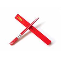 ingrosso le vendite delle bacchette-Bacchette rosse della Cina di marca sup di plastica creativa Eco amichevole anti resistenza all'usura per cadere bacchette portatile vendita calda 18sj I1