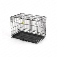 grandes cercas de cães venda por atacado-Teddy Dog Cage Cabelo Dourado Samoieda Grande Ferro Pet Pequeno Canil Cachorrinho Suprimentos Crate Cercas Ao Ar Livre Cadeia Suprimentos Pet Cat