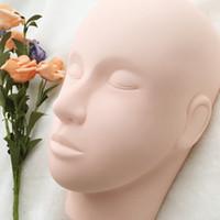 mannequins de maquillage achat en gros de-Prix de gros Formation Mannequin Tête de Formation pour Cils Cometic Pratique Maquillage Pour Les Nouveaux Débutants De Formation Débutants FDshine