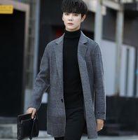74ff34e6fe7e4 free shipping2019 New Winter Warm Men Casual Jackets Wool Overcoat Slim Fit  Jackets Men Casual Jacket Overcoat Pea Coat Plus Size M-XXXLCoat