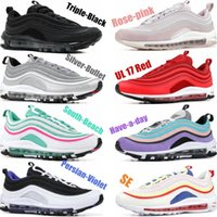Wholesale d size shoes for sale - 2019 Designer Running Shoes South Beach Gold Silver Bullet Triple White Black Have a day Mens womens Trainer Sports Sneaker Size eur