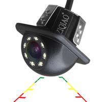 evrensel arka görüş kamerası toptan satış-ZIQIAO Araba Dikiz Kamera Evrensel Yedekleme Park Kamera 8 LED Gece Görüş