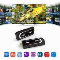g caja de cuatro núcleos al por mayor-Nueva Pro H3 Mini PC Amlogic S905X Quad Core Android 7.1 TV Dongle 2GB 16GB 2.4G / 5.G WiFi Bluetooth HDMI HEVC H.265 1080P 4K HD TV Stick Box