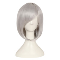 Wholesale silver hair wig cosplay for sale - Group buy Silver Gray Short Bob Style Wig Anime Cosplay Party Straight Hair Full Wigs