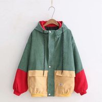 d4eb6d6633 Wholesale green corduroy coat for sale - Womail Fashion Women Long Sleeve  Corduroy Patchwork Oversize Jacket