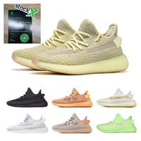 zapatos para correr que brillan intensamente al por mayor-2019 con stock X 700 Kanye West Lundmark Antlia Arcilla Hiperespacio Forma verdadera Negro Reflectante GID Glow Beluga 2.0 Running Shoes