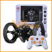 Wholesale car night resale online - 2019 RC Cars Bounce Car G Remote Control Stunt Bouncer Toys RC Robot Bouncing Car Led Night Toy For Kids Children Gifts