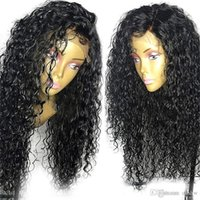 Wholesale unprocessed virgin silk lace front wigs for sale - Group buy Curly Silk Top Full Lace Wig For Black Women Glueless Unprocessed Virgin Human Brazilian Silk Base Lace Front Curly Wigs Pre Plucked