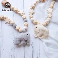 produtos carregados venda por atacado-Vamos fazer do chocalho do bebê Brinquedos Bebê recém-nascido brinquedos de madeira PVC Livre Individual Loaded Beech DIY 6-9 Meses Elephant Produto Baby Bed