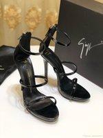 ingrosso migliori pantofole a tacco-Pantofole di alta qualità Sandali Scivoli Scarpe casual di marca Infradito Mocassini Scuff per le donne Tacco alto 12,5 cm Con la scatola MIGLIORE QUALITÀ 35-41