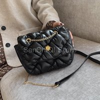 Wholesale cross shoulder cell phone bags for sale - Group buy Small Quilted PU Leather Crossbody Bags For Women Fashion Chain Shoulder Messenger Bag Female Handbags and Purses