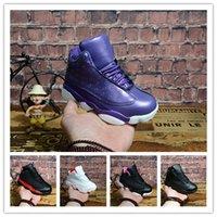 children s sports shoes size al por mayor-de lujo del bebé del diseñador 13 para niños Zapatos de baloncesto atléticos 13s calzado deportivo de Chicago infantiles para los zapatos de las muchachas del muchacho envío libre Tamaño: 28-35