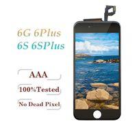 iphone сенсорный дигитайзер сенсорный полный оптовых-Tianma Качество ЖК-дисплей для iPhone 6 6 Plus 6S 6S Plus сенсорный дигитайзер полный экран с рамкой в сборе белый черный