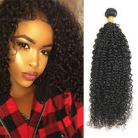 Wholesale brazilian remy jerry curl hair resale online - Brazilian Curly Human Hair Bundle Jerry Curl Human Hair Bundles Remy Hair Extension Inch