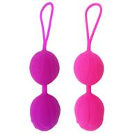 ball für sex großhandel-Medizinische Silikon Kegel Bälle Vaginal Straffen Übung Bolas Ball Vibrator Sexspielzeug Geschenk Für Frauen 2 farben GGA1794