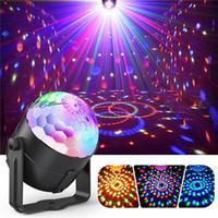 mini dj ışığı toptan satış-Yeni Taşınabilir Lazer Sahne Işıkları RGB Yedi modu Aydınlatma Mini DJ Lazer Uzaktan Kumanda ile Noel Partisi Kulübü Için projektör