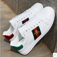 düz kedi ayakkabısı toptan satış-Sıcak Satış Erkek Kadın Sneakers Loafer'lar Moda Nakış Kedi Düşük Kesim Beyaz Rahat Düz Ayakkabı Unisex Zapatillas Eğitmenler 36-45