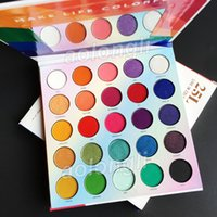 Wholesale colorful palette resale online - Makeup Eyeshadow Palette L Live In Color Eye Shadow Colors Make Life Colorful Matte Shimmer Eye Shadow hill Palette Beauty Cosmetics