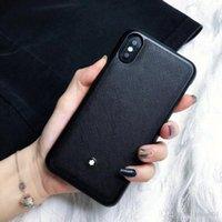 boa qualidade telefone casos venda por atacado-Marca de couro preto bussiness boa qualidade phone case para iphone 6 6 s 7 8 8 plus xr x tampa traseira shell para iphone x xr 7 plus case