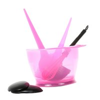 Wholesale highlight cover resale online - 6 Pack Hair Coloring Highlight Brush Hair Color Bowl Stirrer Ear Covers Set