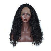 meilleures perruques de dentelle naturelle achat en gros de-Kinky bouclés synthétique perruque avant de lacet pour femmes noires Meilleur Qualité Kanekalon haute température Fibre Lace Front perruque avec délié naturel