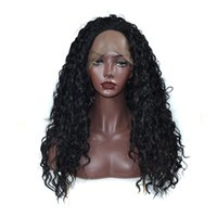 Wholesale best lace natural hairline wigs resale online - Kinky Curly Synthetic Lace Front Wig for Black Women Best Quality Kanekalon High Temperature Fiber Lace Front Wig with Natural Hairline