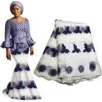 tecido de pedra de strass venda por atacado-Os mais recentes tecidos de atacadores nigerianos de alta qualidade rendas africano tecido de renda para o vestido de noiva tecido de renda de tule francês