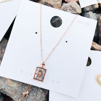 Wholesale rose crystal price online – 20 pieces per Perfume bottle necklace in rose gold color trendy necklace classical necklace with good price