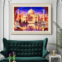 Wholesale 5d paintings for sale - Group buy 5D DIY Diamond Painting Kit Full Resin Diamond Pasting Area Cross Stitch Arts Craft Canvas Supply For Home Wall Decor