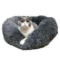 Wholesale navy beds for sale - Group buy Pet Dog Cat Calming Bed Warm Soft Plush Round Navy Dark Gray Color Pet House Confortable