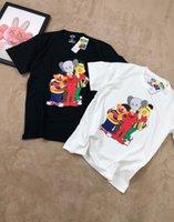 camiseta unisex venda por atacado-Mens Designer T Camisas Moda Feminina Verão Camiseta Uniqlo * Kaws * Rua Sésamo Marca T Shirt Unisex Tops Hot