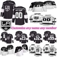 Wholesale 32 browns jerseys resale online - Los Angeles Kings jerseys GRETZKY DOUGHTY KOPITAR BROWN QUICK CARTER Customize any number any name hockey jersey