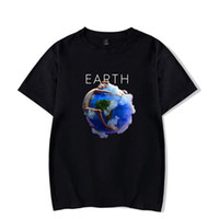 ingrosso canzoni di stampa-Earth Mens Summer Tshirts Crew Neck Lils New Songs Stampa Moda Abbigliamento maschile Wild Causel Tees