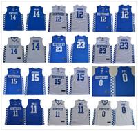 Wholesale kentucky jersey resale online - NCAA Kentucky Wildcats College tyler Herro Fox John Wall Towns Cousins Anthony Davis Booker Basketball Jersey