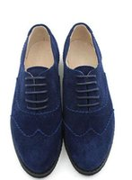 college wind schuhe groihandel-England College Wind Oxford Loafers Frauen flache Schuhe plus Größen 34- 45 Matt Leder Mischfarben dick mit Beiläufiges Oxfords Schuhe