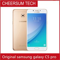 Wholesale pro smartphone resale online - refurbished Samsung Galaxy C5 Pro C5010 Mobile Phone4GB RAM GB ROM Fingerprint Dual SIM quot FHD NFC MP Camera GLTE Smartphone