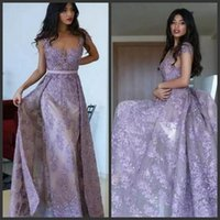 Wholesale evening gowns online - Vintage Fashion Formal Evening Dresses Lace Appliques Beads Sashes Prom Dresses Floor Length Zipper Back Cocktail Party Gowns