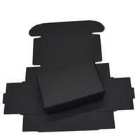 ingrosso decorazione di nozze di cartone-9.4x6.2x3cm Scatole di cartone di carta nera per pacchetto di carte regalo di nozze Scatole di carta di carta kraft Compleanno decorazioni di caramelle che avvolgono scatola di decorazioni 50PCS